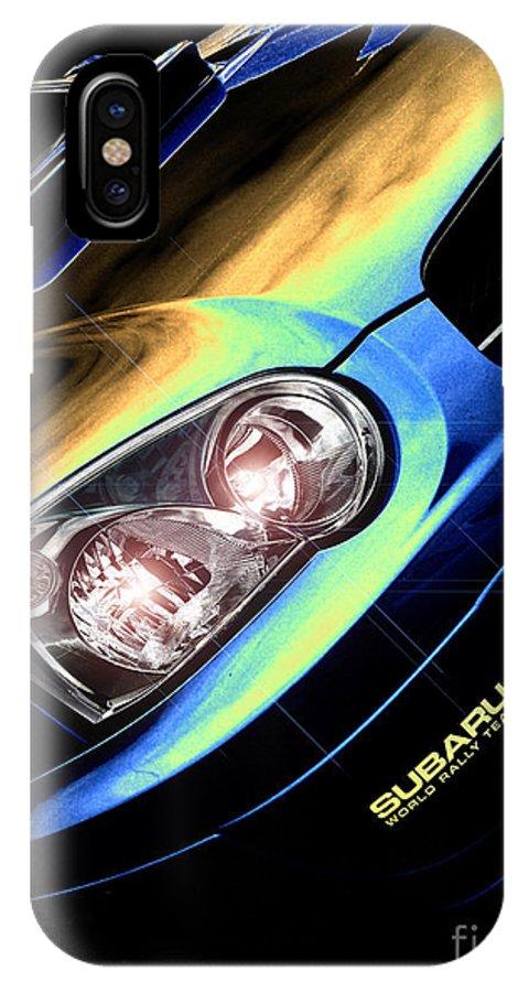 Car IPhone X Case featuring the digital art Subaru Impreza by Nigel Bangert