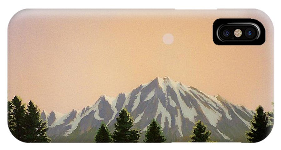 Landscape IPhone X Case featuring the painting Sublime Sierra Light by Frank Wilson