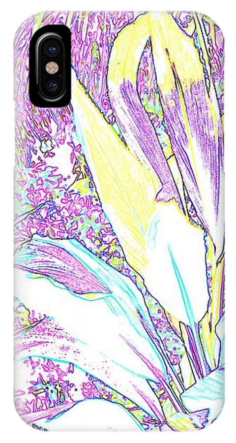 Abstract IPhone Case featuring the photograph Subtle Leaf by Ian MacDonald
