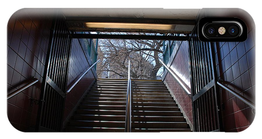 Pop Art IPhone Case featuring the photograph Subway Stairs To Freedom by Rob Hans
