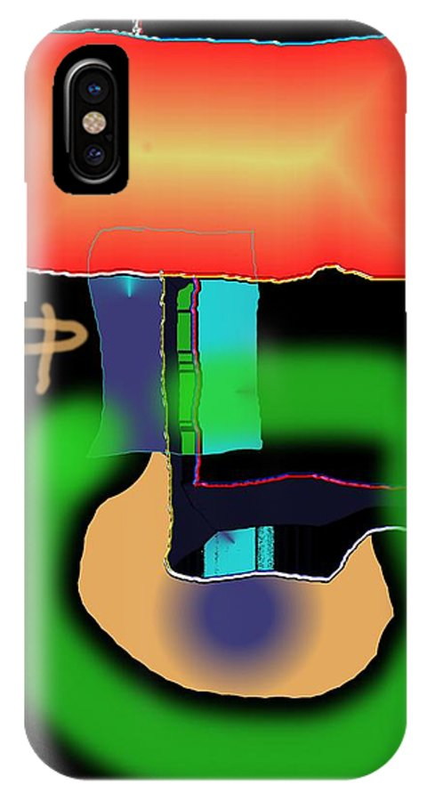 Mouse IPhone X Case featuring the digital art Suddenclicks by Helmut Rottler