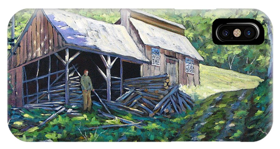 Sugar Shack IPhone X Case featuring the painting Sugar Shack In July by Richard T Pranke