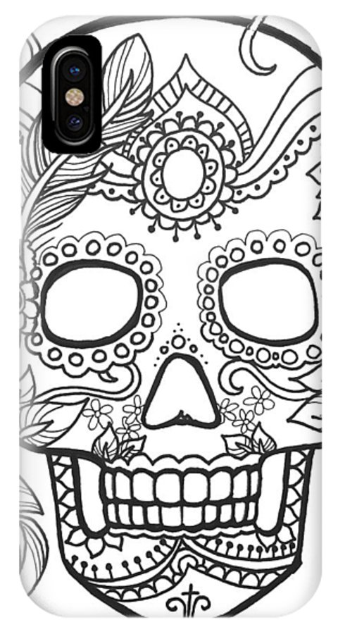 Sugar Skulls Black And White Series Iphone X Case For Sale By Maria