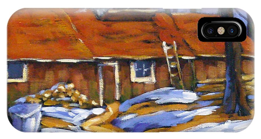 Sugar Shack IPhone X Case featuring the painting Sugar Time by Richard T Pranke
