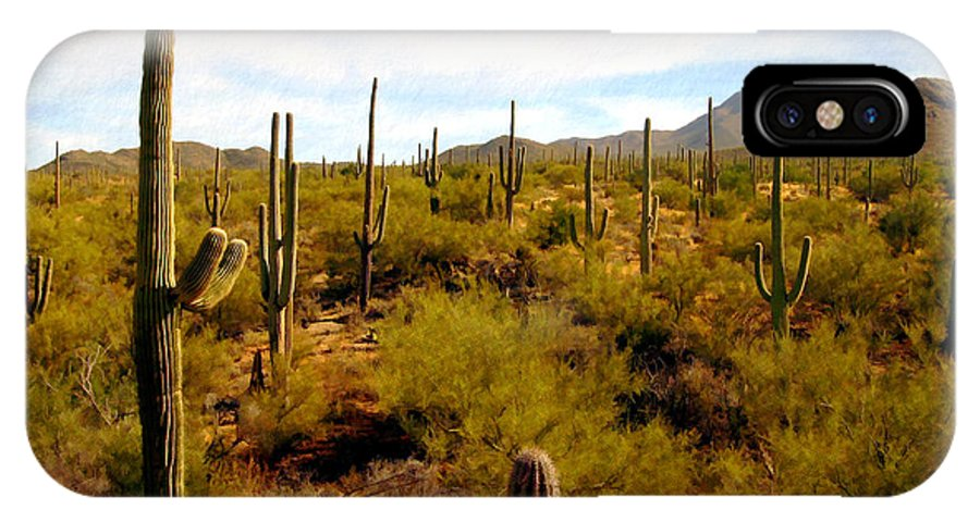 Suguaro Cactus IPhone X Case featuring the photograph Suguro National Park by Kurt Van Wagner