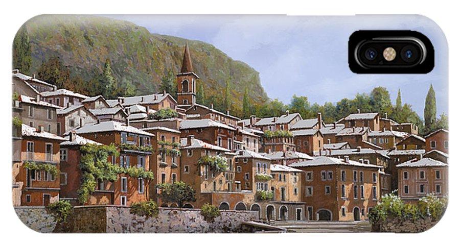 Lake Como IPhone X Case featuring the painting Sul Lago Di Como by Guido Borelli