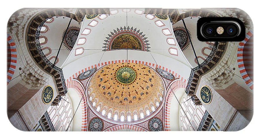 Arch IPhone X Case featuring the photograph Suleymaniye Mosque Ceiling by Artur Bogacki