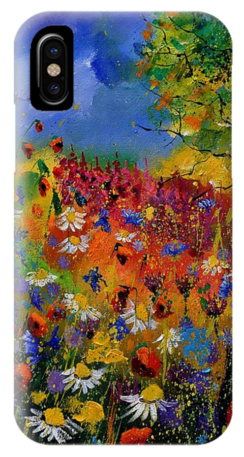 Flowers IPhone X Case featuring the painting Summer 670170 by Pol Ledent