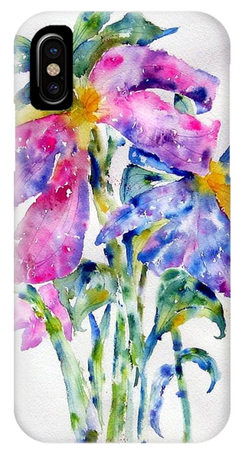 Floral IPhone X Case featuring the painting Summer Bouquet by Anne Duke