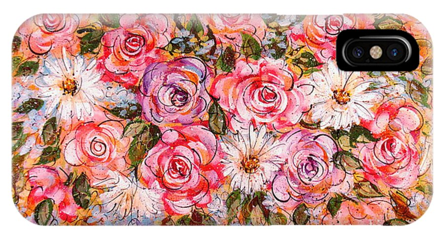 Flowers IPhone X Case featuring the painting Summer Bouquet by Natalie Holland
