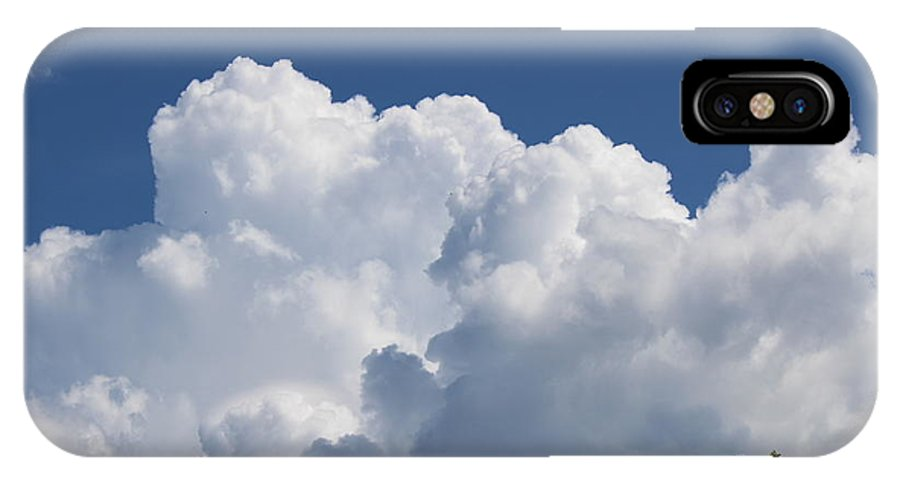 Summer Clouds IPhone X Case featuring the photograph Summer Clouds In Maine by Colleen Snow