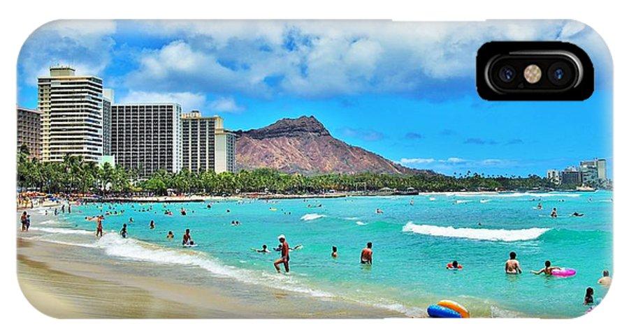 Waikiki Beach IPhone X Case featuring the photograph Summer Daze by G Ward Fahey