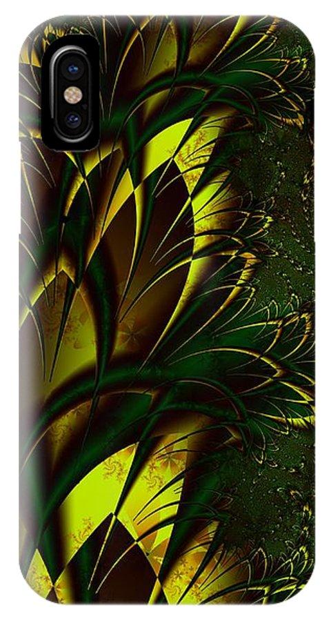 Digital Art IPhone X Case featuring the digital art Summer Frenzy by Amanda Moore