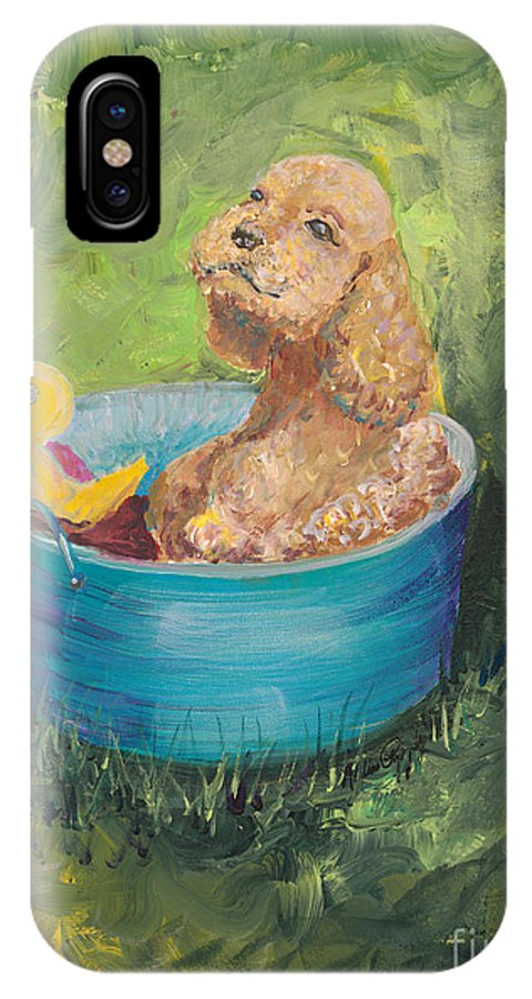 Dog IPhone Case featuring the painting Summer Fun by Nadine Rippelmeyer