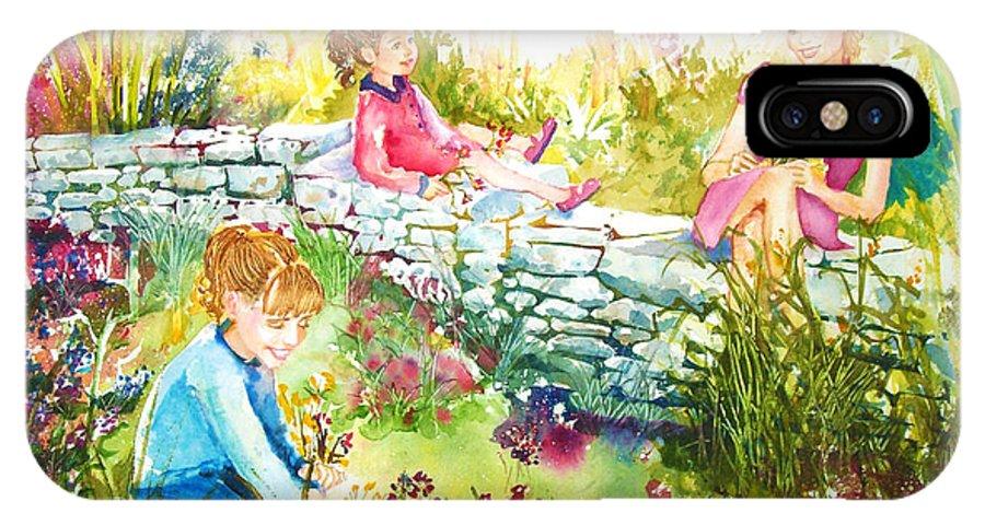 Garden IPhone Case featuring the painting Summer Garden by Laura Rispoli