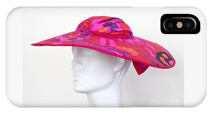 Hat IPhone X Case featuring the photograph Summer Hat by Ann Horn