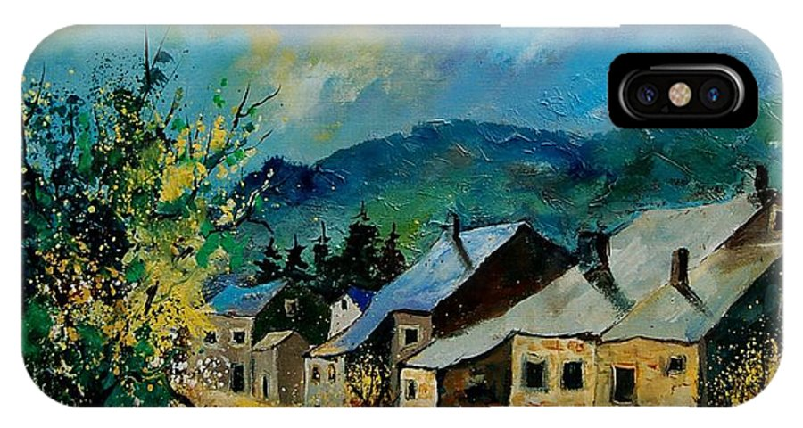 Poppies IPhone X Case featuring the painting Summer in Mogimont by Pol Ledent
