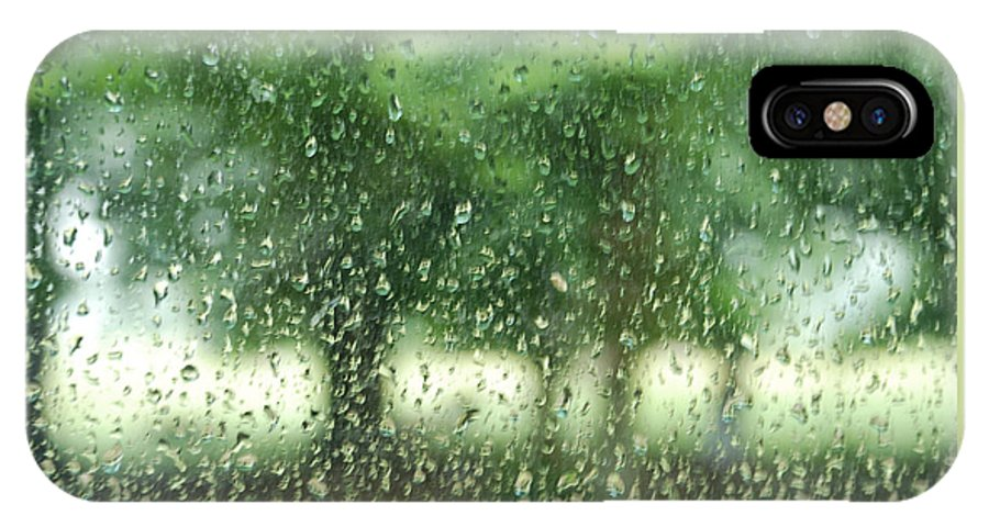 Rain IPhone X Case featuring the photograph Summer Mist by Eliza Sans Souci McNally