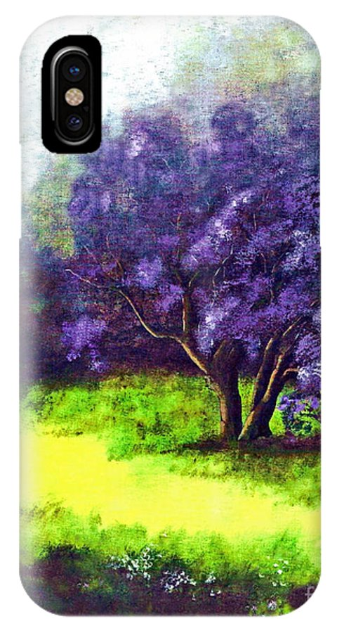 Fine Art Print IPhone X Case featuring the painting Summer Mist by Patricia Griffin Brett