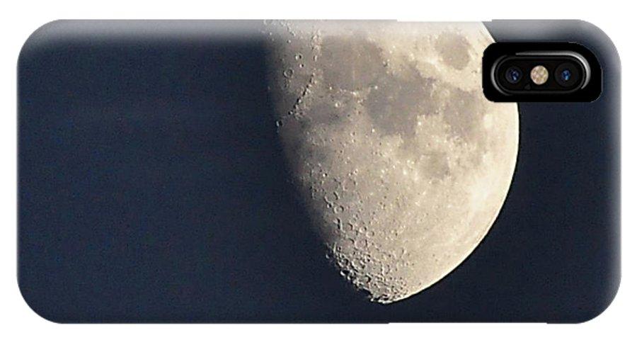 Moon IPhone X Case featuring the photograph Summer Moon by Susan Cliett