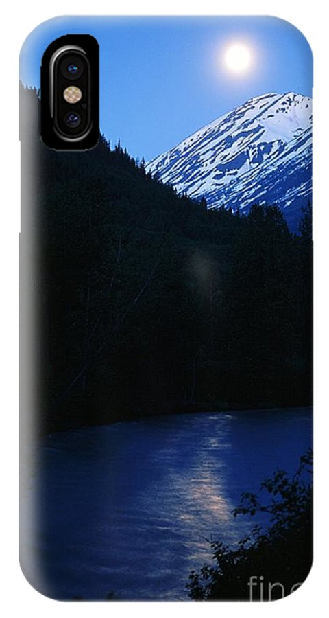 Moon IPhone X Case featuring the photograph Summer Moonlight by Ronnie Glover