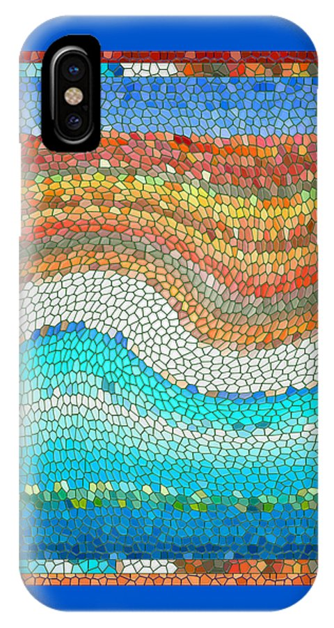 Colorful IPhone X Case featuring the digital art Summer Mosaic by Melissa A Benson
