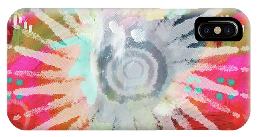 Groovy IPhone X Case featuring the mixed media Summer Of Love- Art By Linda Woods by Linda Woods