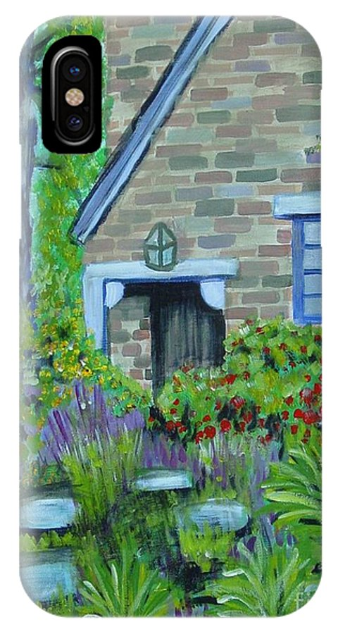 Cottage IPhone X Case featuring the painting Summer Retreat by Laurie Morgan