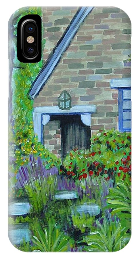 Cottage IPhone Case featuring the painting Summer Retreat by Laurie Morgan