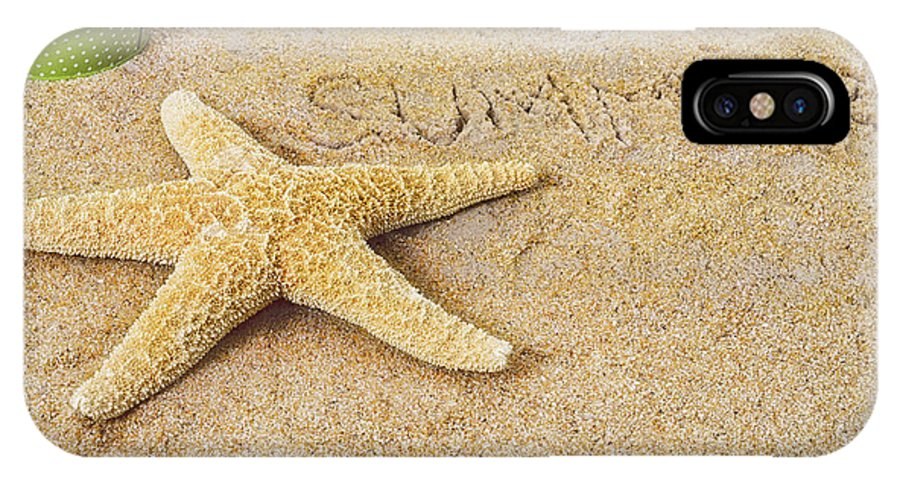 Beach IPhone X Case featuring the photograph Summer Starfish by Marianne Campolongo