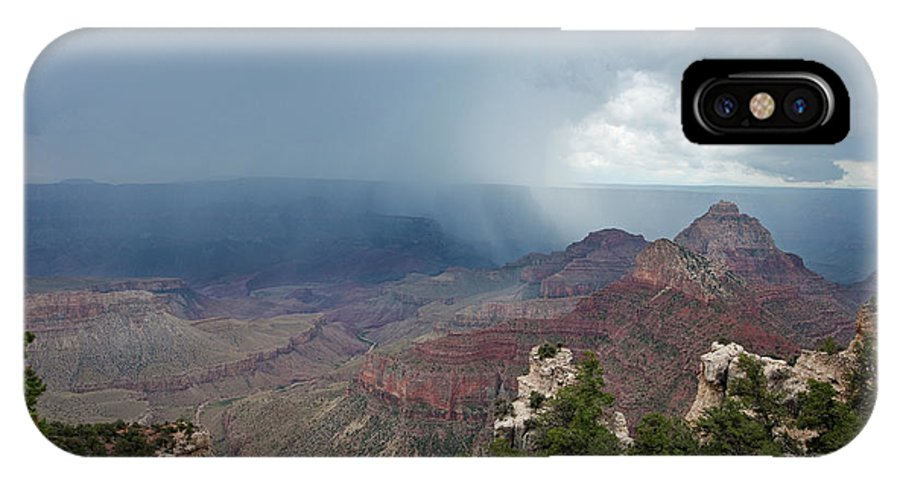 Dave Welling IPhone X Case featuring the photograph Summer Storm North Rim Grand Canyon National Park Arizona by Dave Welling