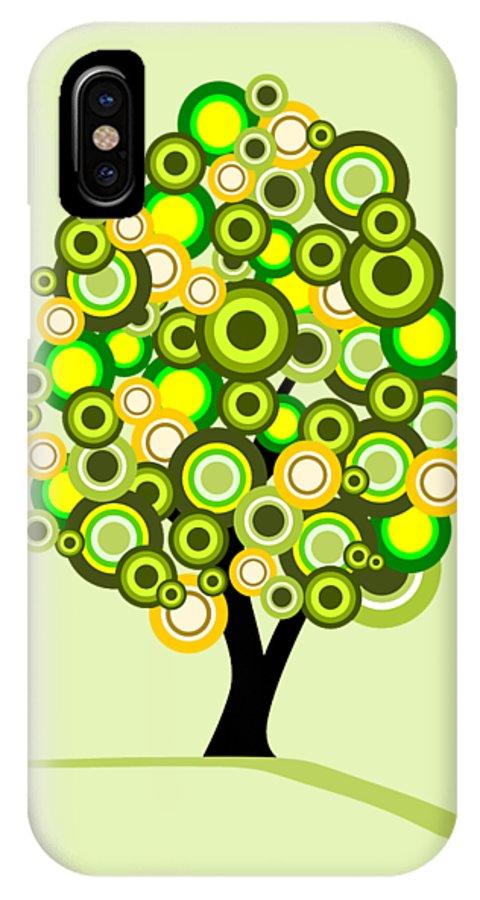 Tree IPhone X Case featuring the digital art Summer Tree by Anastasiya Malakhova