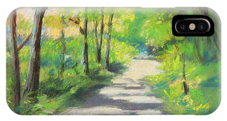 Alfred IPhone Case featuring the painting summer woods at Kenoza Lake by Leslie Alfred McGrath