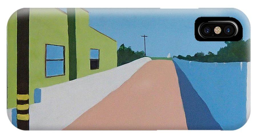 Summerland IPhone X Case featuring the painting Summerland by Philip Fleischer