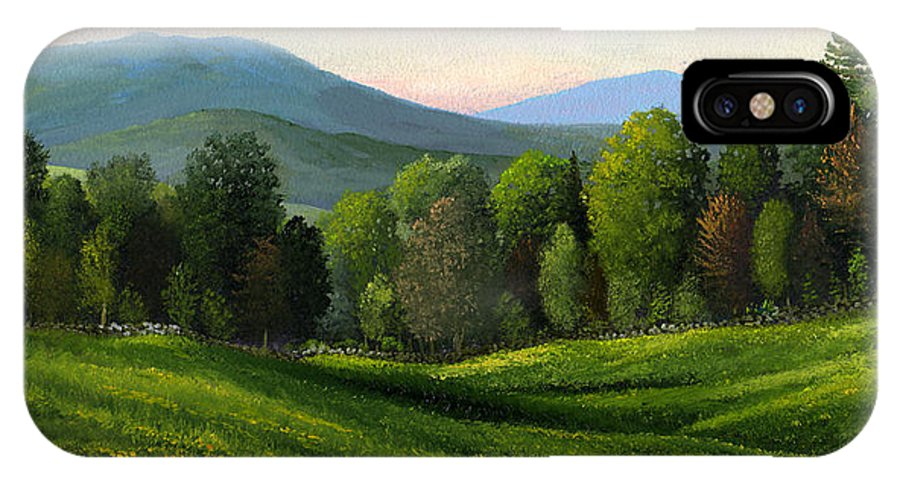 Landscape IPhone X / XS Case featuring the painting Summers Ending by Frank Wilson