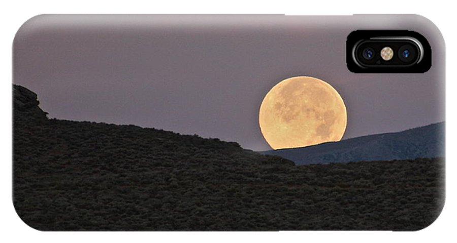 Moon IPhone X Case featuring the photograph Summers Super Moon by Patricia Haynes