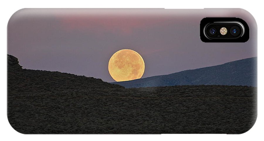 Moon IPhone X Case featuring the photograph Summers Super Moon Two by Patricia Haynes