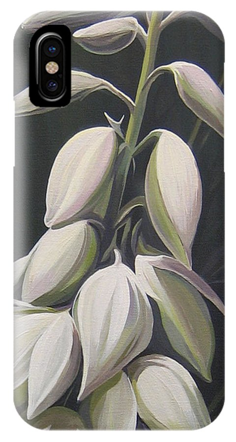 Yucca Plant IPhone X Case featuring the painting Summersilver by Hunter Jay