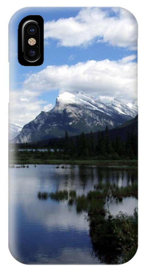 Landscape IPhone X Case featuring the photograph Summertime In Vermillion Lakes by Tiffany Vest