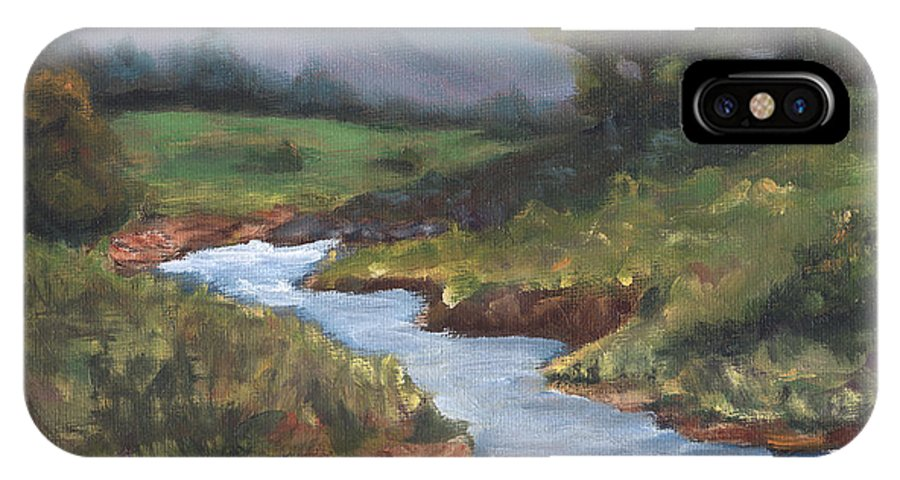 Country IPhone X Case featuring the painting Summertime by Linda Hiller