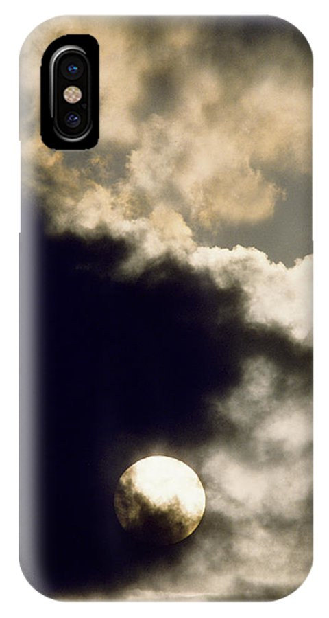 Storm IPhone X Case featuring the photograph Sun And Dark Clouds by Steve Somerville