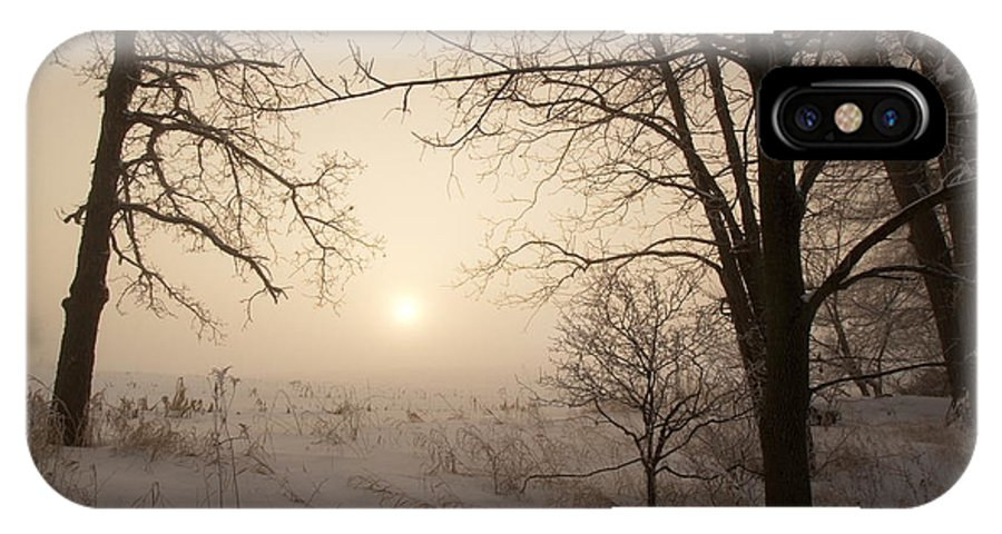 Landscape IPhone X Case featuring the photograph Sun Breaking Fog II by Amanda Kiplinger