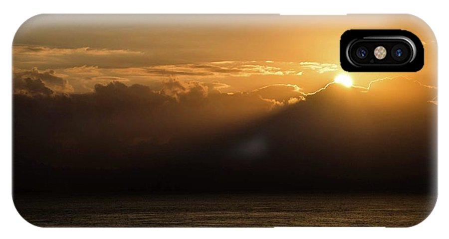 Sunrise IPhone X Case featuring the photograph Sun Cloud Mountain by Larkin's Balcony Photography