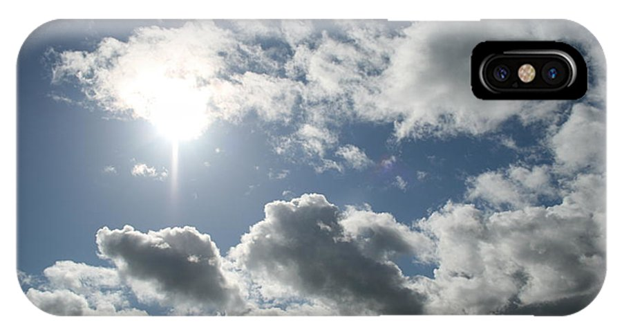 Sky IPhone X Case featuring the photograph Sun Clouds by Joshua Sunday