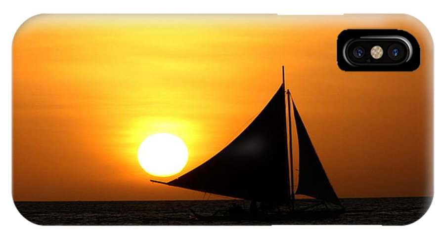 Sun IPhone X / XS Case featuring the photograph sun in Philippine by Costea Mihai