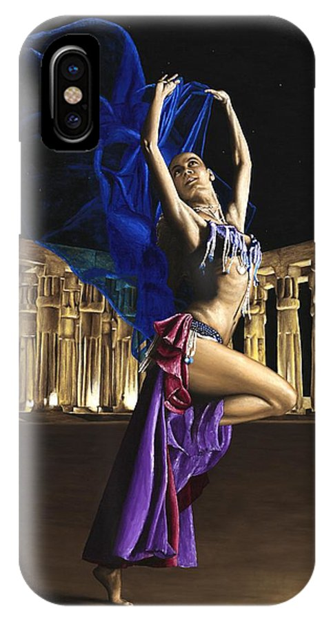 Belly IPhone X Case featuring the painting Sun Court Dancer by Richard Young
