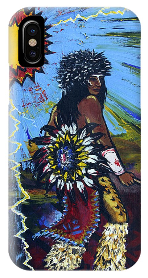 Art IPhone X Case featuring the painting Sun Dancer by Karon Melillo DeVega