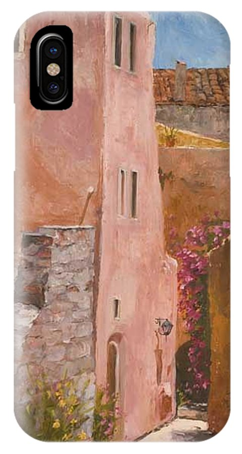 Urban IPhone Case featuring the painting Sun Drenched by Kit Hevron Mahoney