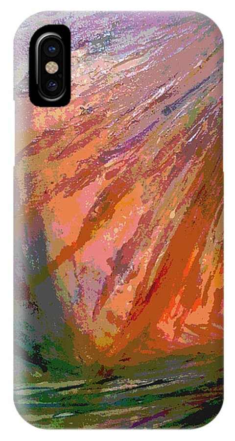 IPhone X Case featuring the mixed media Sun Field by Jan Pellizzer