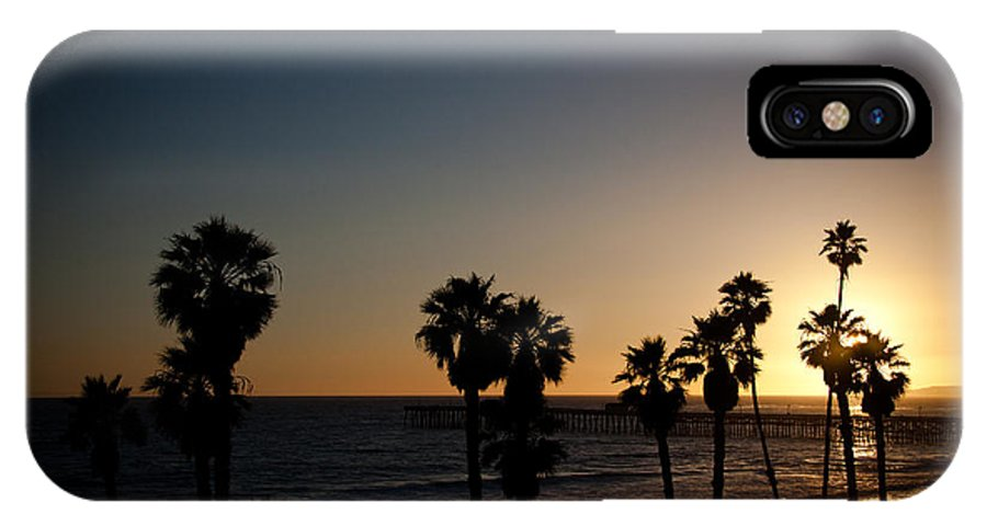 San Clemente IPhone X Case featuring the photograph Sun Going Down In California by Ralf Kaiser